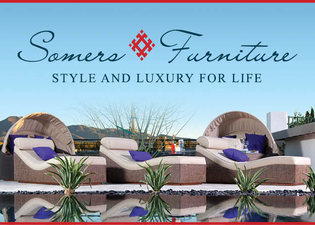 somers furniture logo on poolside bliss