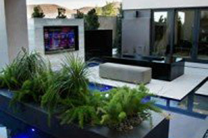 outdoor furniture at a Las Vegas residence
