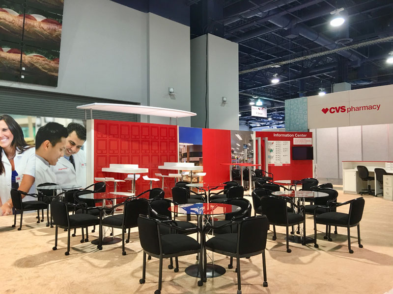 rental furniture and set up for cvs expo booth