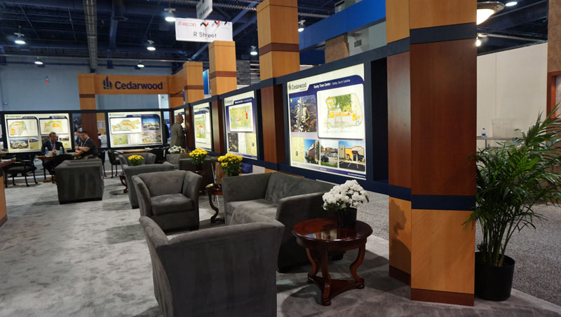 convention rental furniture for Cedarwood booth