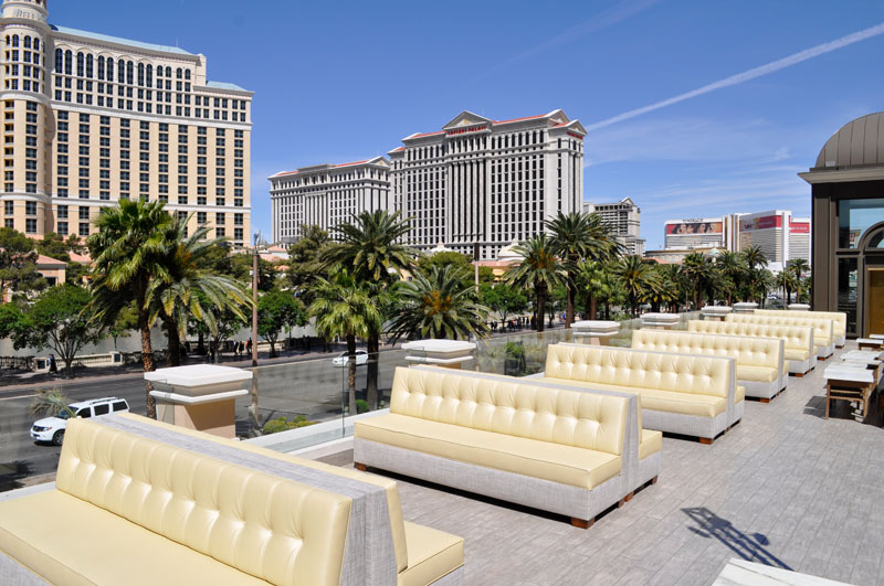 rooftop seating at nightclub at Paris Las Vegas