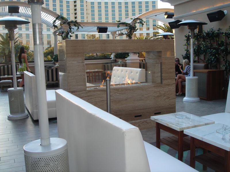 firepit seating at nightclub at Paris Las Vegas