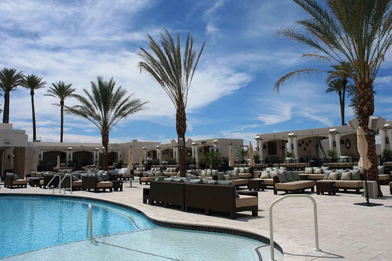 poolside seating and furniture at Mandalay Bay Las Vegas