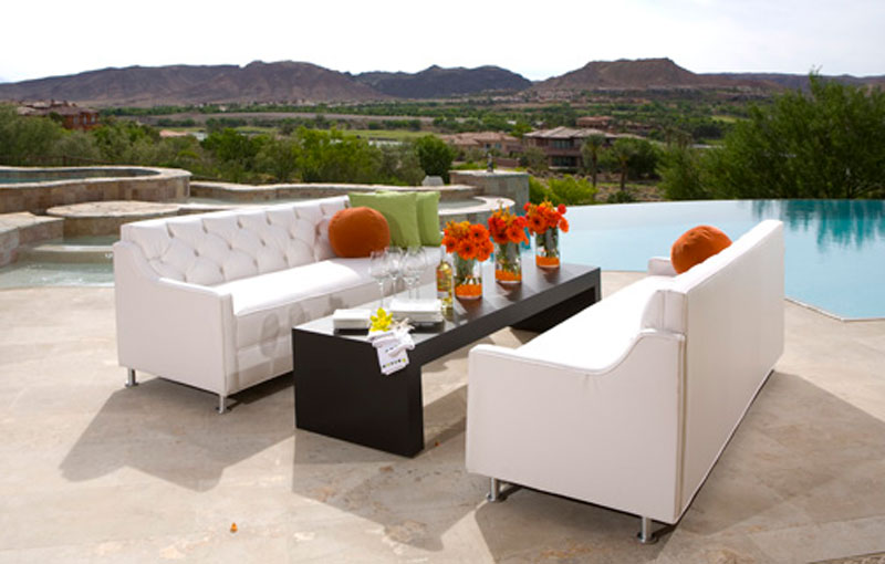 Custom outdoor furniture seating for dining alfresco
