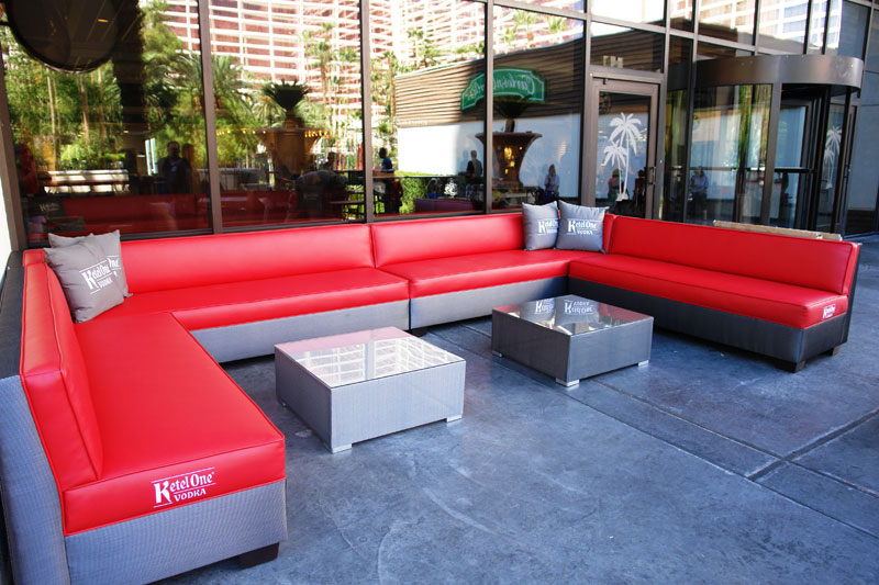 Bright seating at Flamingo Las Vegas