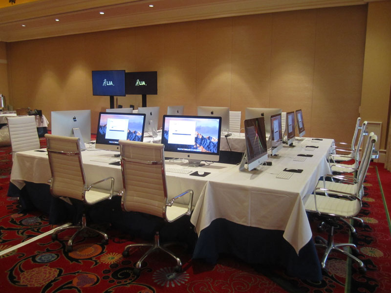 Classroom furniture rental for London International Awards in Las Vegas