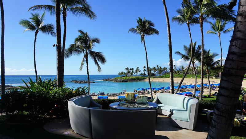 custom outdoor beachside seating and furniture for Marriott KoOlina Oahu Hawaii