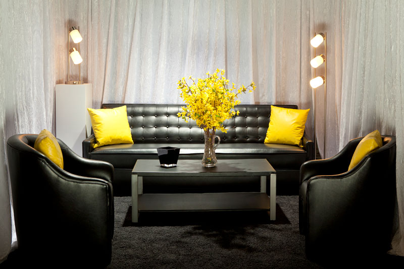 classic and comfortable commercial rental business furniture in rented commercial space