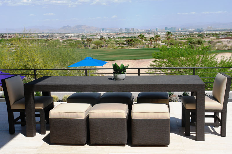 beautiful customized furniture and seating for a Las Vegas residence