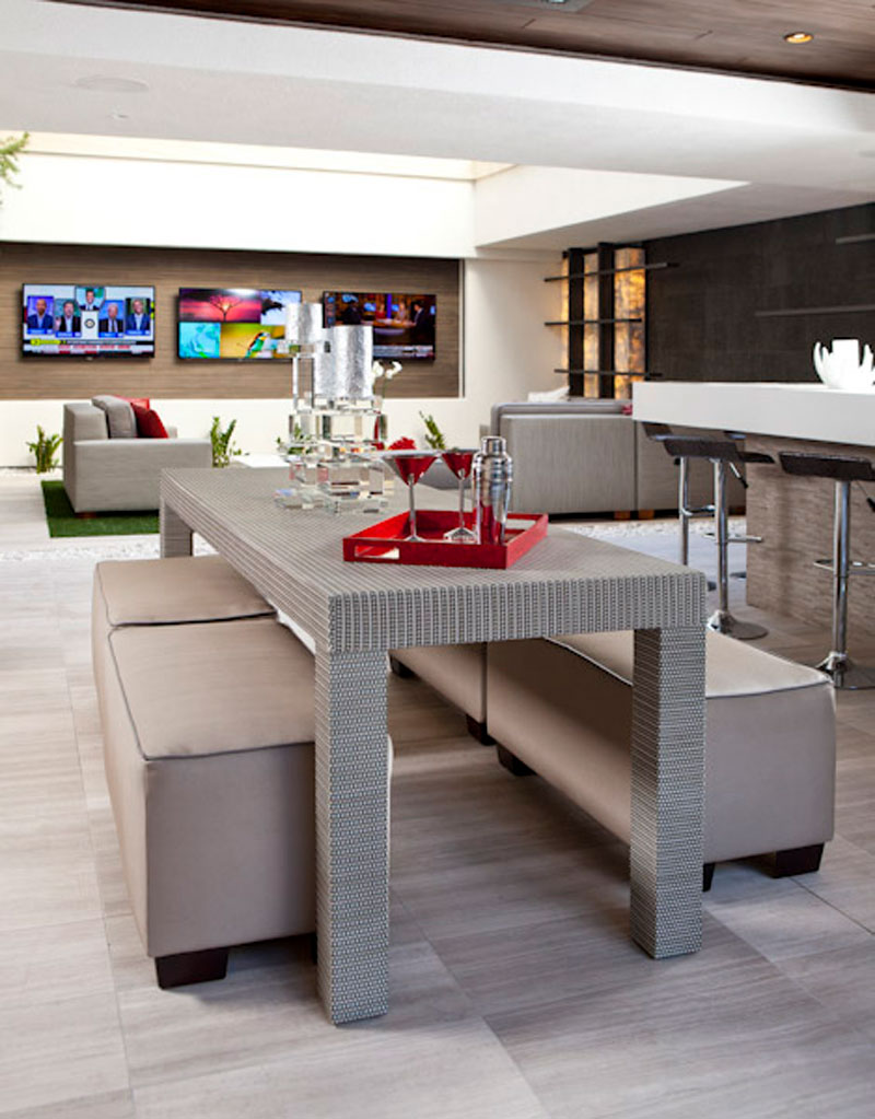 casual yet sophisticated custom furniture for a dining room in Las Vegas Residence