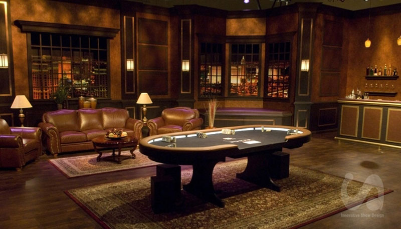 dramatic, classic rental furniture for Poker After Dark at Aria Las Vegas