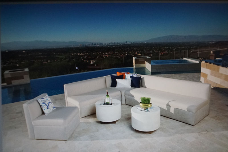 streamline rental poolside furniture for commercial rental location in Las Vegas