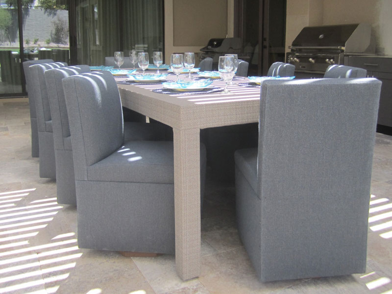 chic custom outdoor dining furniture for commercial or residential properties