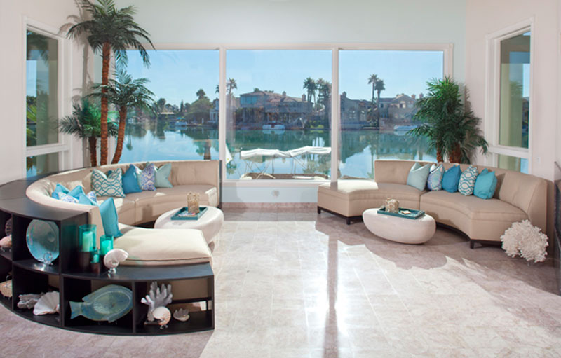 ocean inspired custom furniture for Las Vegas residence