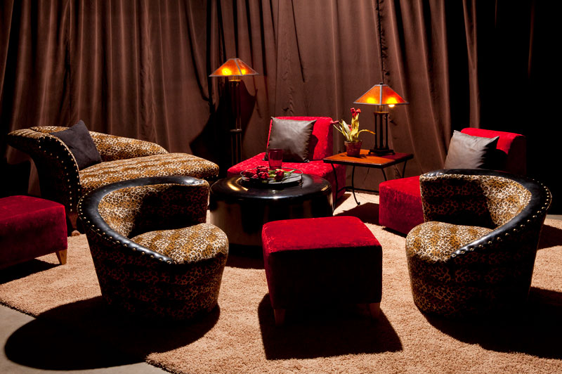 chic rental furniture displayed in rental showroom Las Vegas