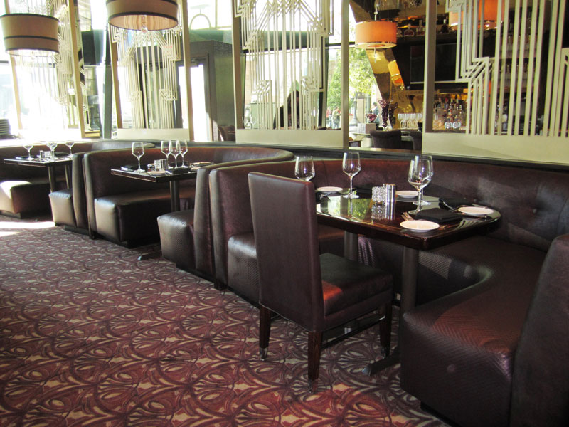 elegant custom furniture and seating for Morton's Las Vegas
