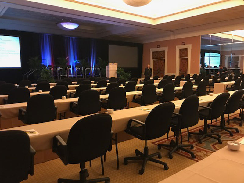 comfortable rental seating for convention centers at Caesar's Palace Las Vegas