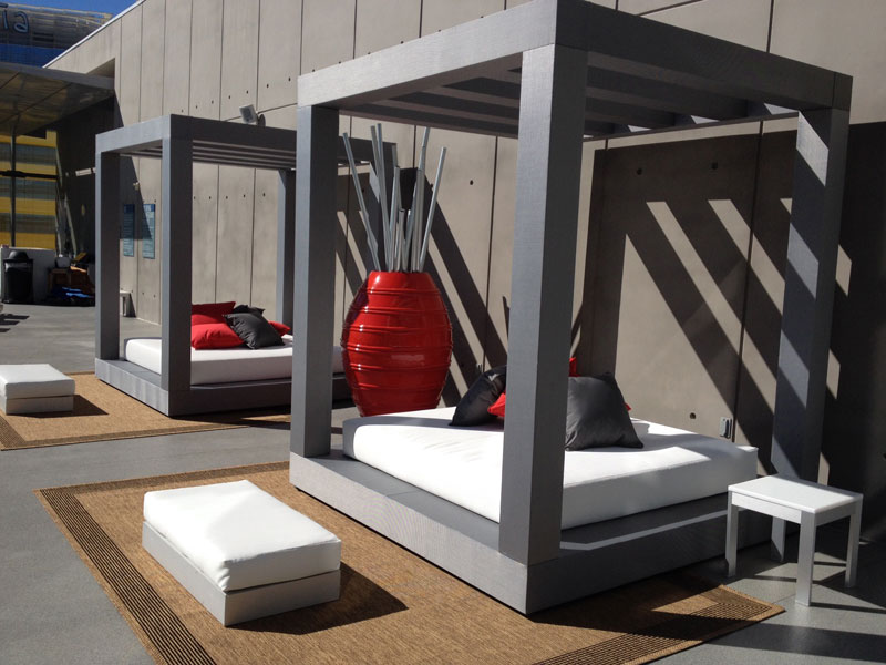 modern custom outdoor furniture for Veer Towers