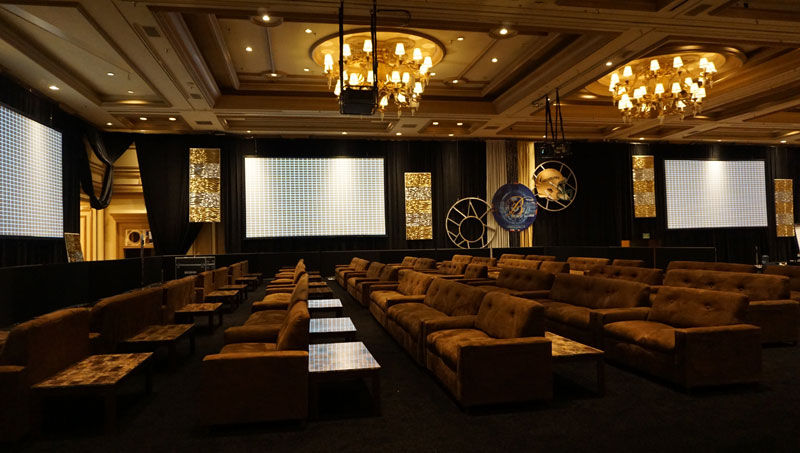commercial rental furniture for super bowl viewing party at Bellagio Las Vegas