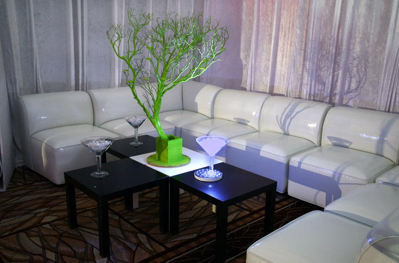 commercial rental furniture for appreciation event at Harrah's Las Vegas