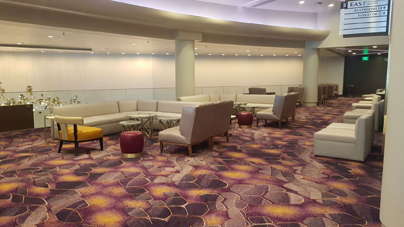 luxurious commercial rental seating and furniture for Aria Las Vegas