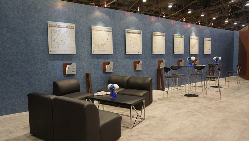Las Vegas convention booth set up and rental furniture