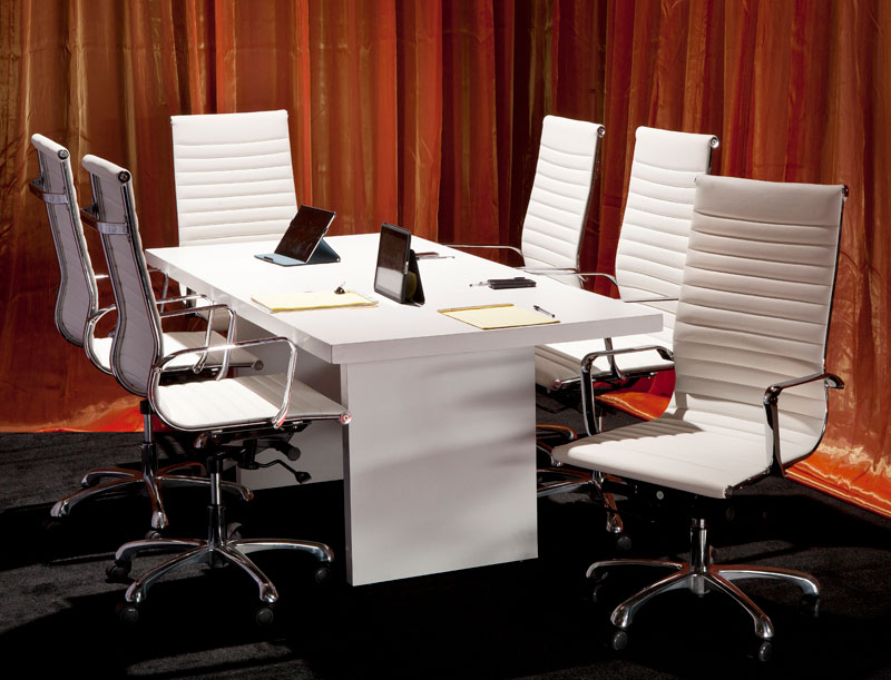 White On White Executive Conference Setting Somers Furniture