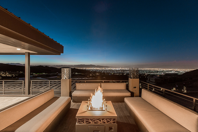 Outdoor deck at NBA player Jordan Farmar's residence