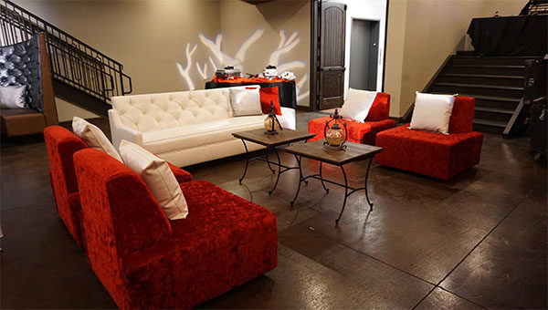 las vegas birthday party furniture rental - luxury seating