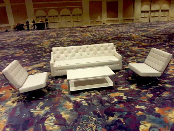hosts las vegas furniture rental set-up