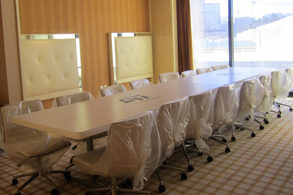 CES conference room set up in luxury resort