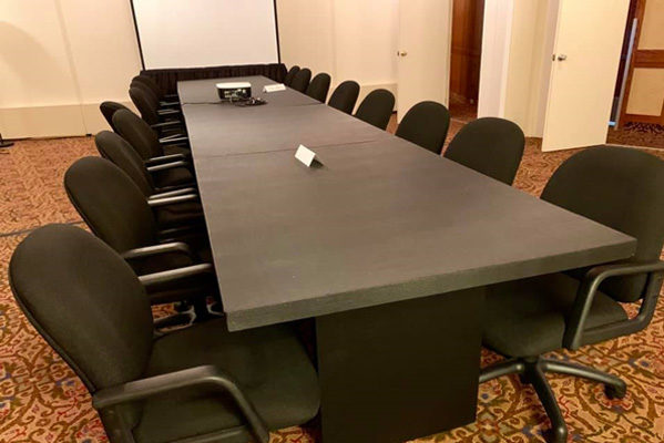 CES2019 conference room set up in luxury resort