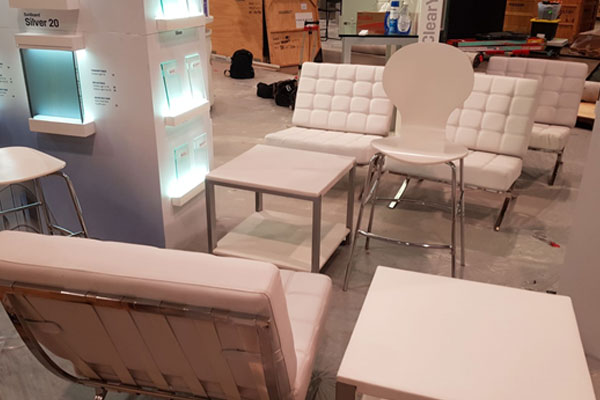 Convention furniture rental for expo booth