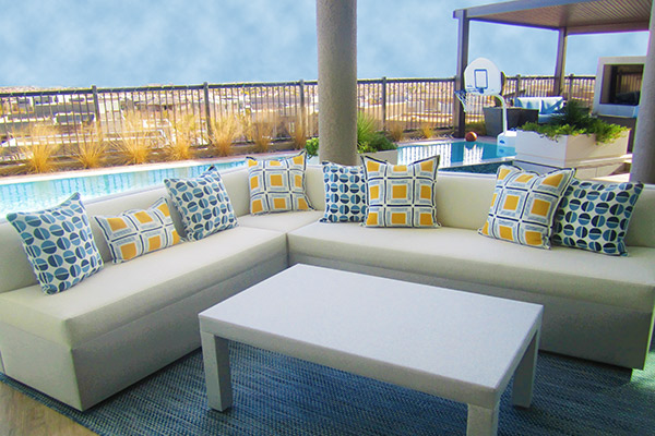 modern and comfortable outdoor entertainment furniture for luxury residence in las vegas