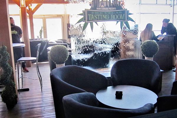 rental furniture for new cannabis tasting lounge in las vegas