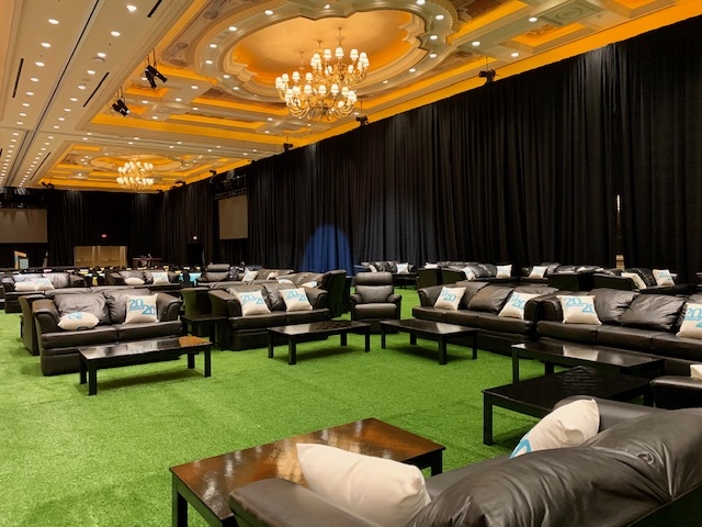 Furniture rental in Las Vegas for The Big Game at the Venitian