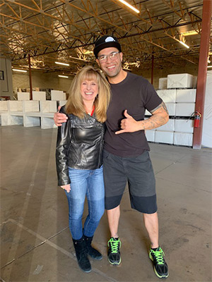 Debbi Somers with Jon 2020