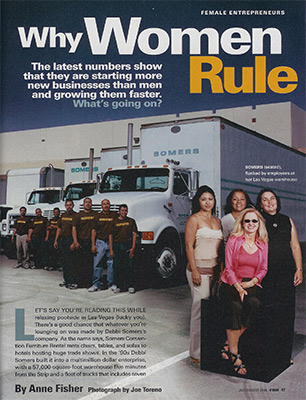 Somers Furniture crew on Fortune magazine cover June 2002