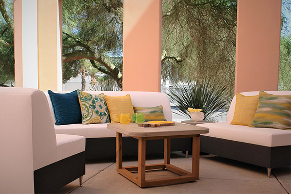 Luxury Resort Style outdoor patio furniture line by Somers Furniture.