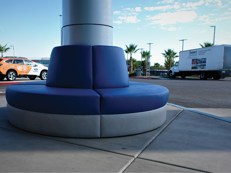 somers furniture Install Subaru Las Vegas outdoor customer seating