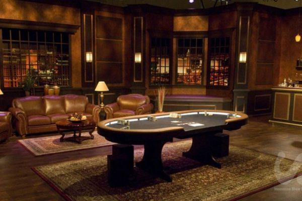 dramatic, classic rental furniture for Poker After Dark at Aria Las Vegas