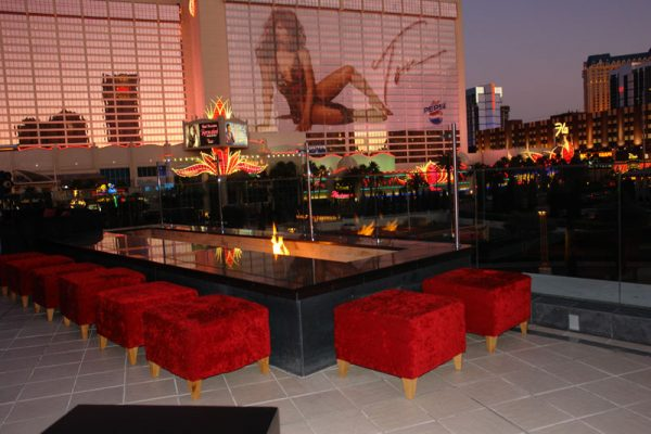 dramatic rental seating furniture for Pure nightclub at Caesars Palace Las Vegas