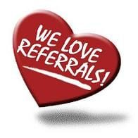 We lover referrals heart graphic